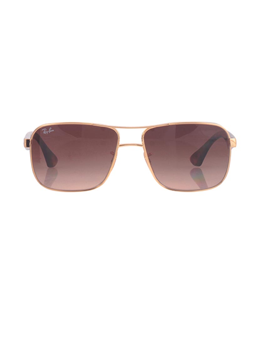 Óculos Ray-Ban Quadrados Dourados, até 2017-01-10 57e69ef6be