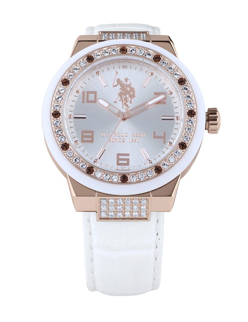 0a5755e0a0e Relógio Us Polo Asnn Rosa Dourado Senhora
