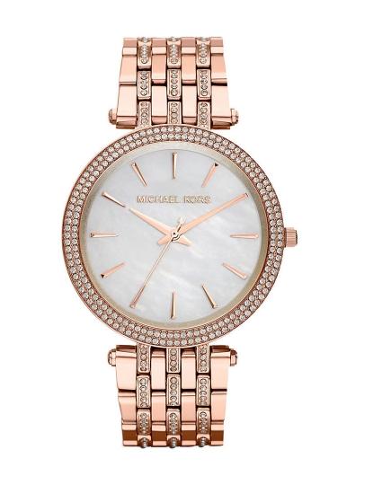 3b0a4b159c95f Relógio Michael Kors Darci Glitz Dourado Rosa, até 2017-06-15