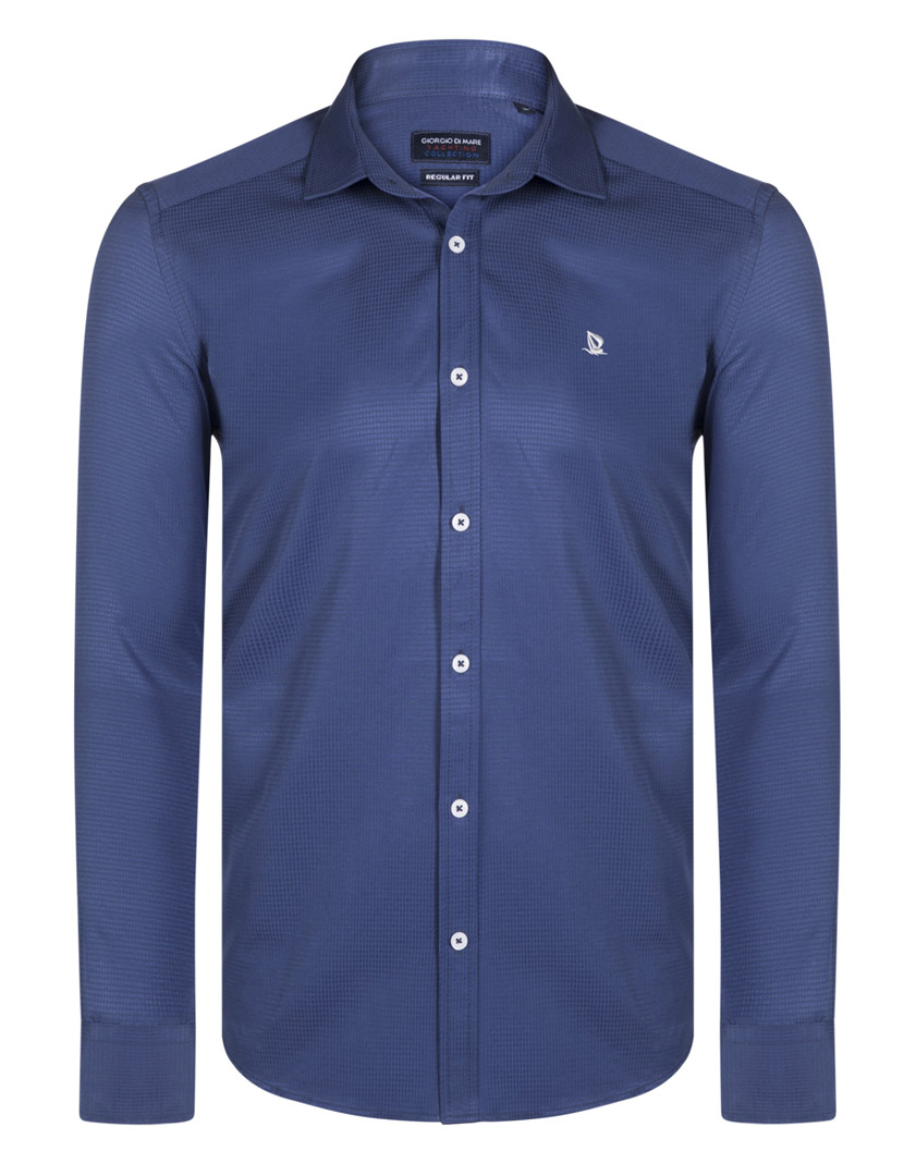de39128204d Camisa Giorgio Di Mare Azul Indigo ...