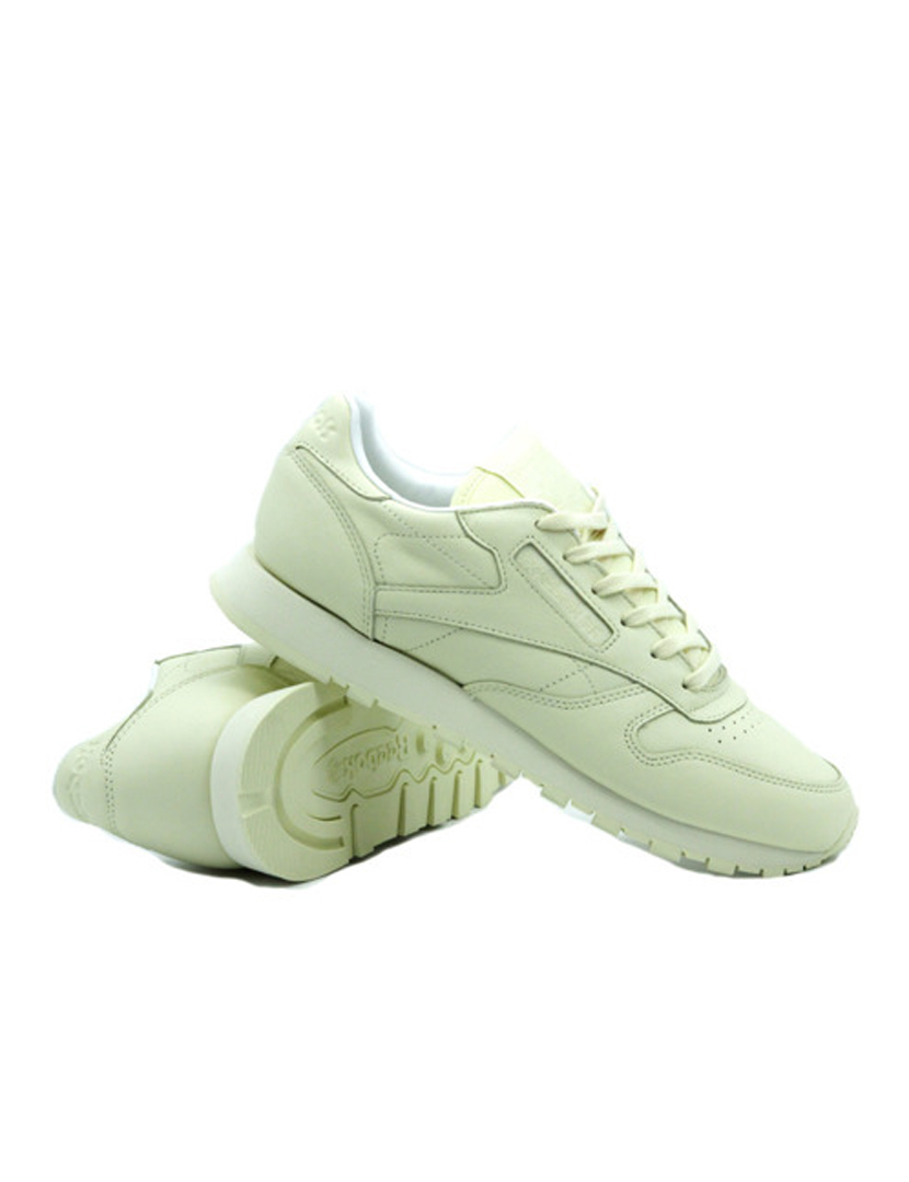 Ténis Reebok Classic Leather Pastels Washed Amarelo e Branco
