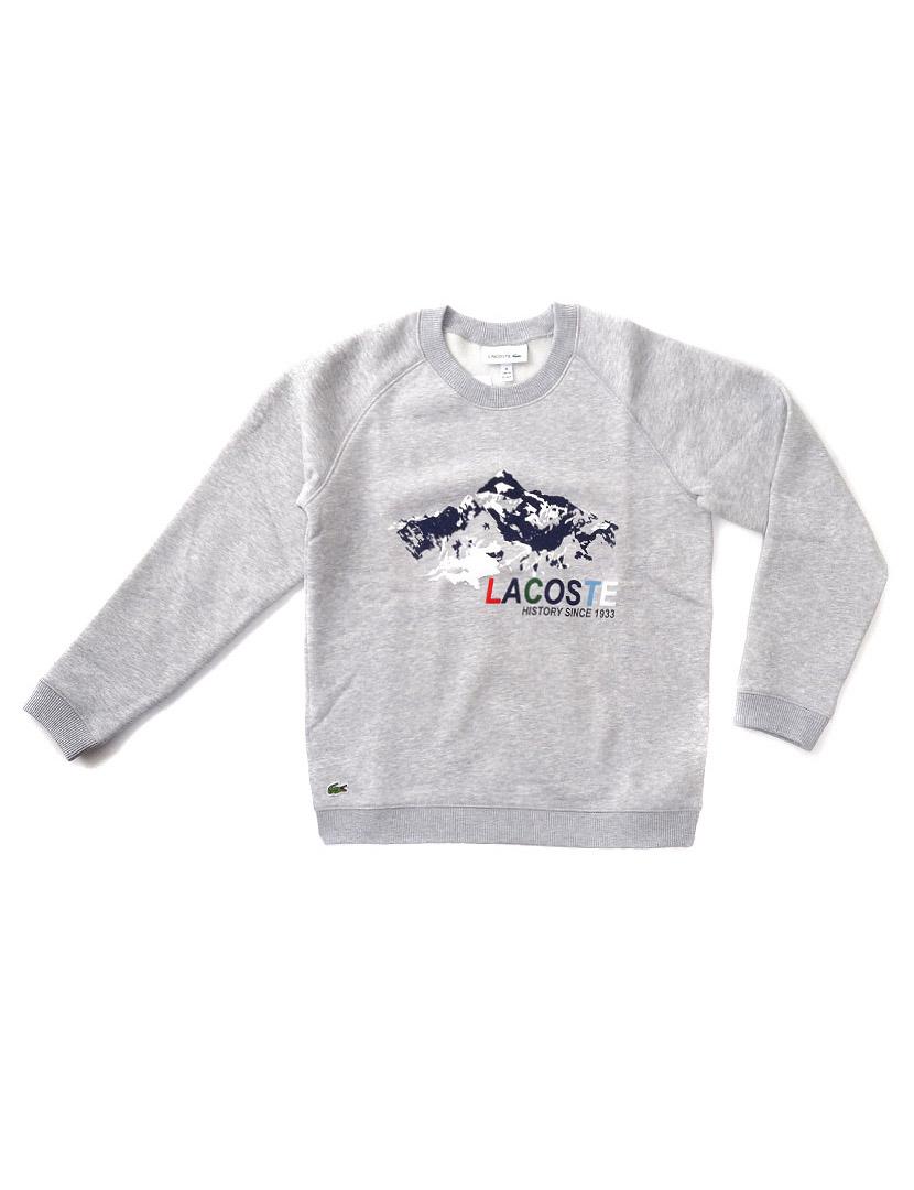 cde605553 Sweatshirt Lacoste Menino Cinza Mesclado