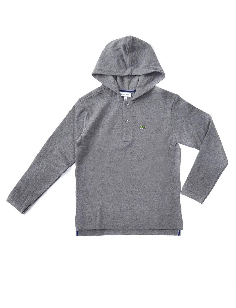 2d98467c5 Sweatshirt com Capuz Lacoste Menino Cinza Mesclado