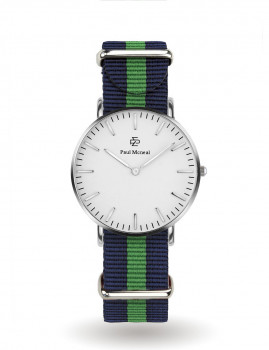 Relógio Paul Mcneal Homem Prateado e Colorido