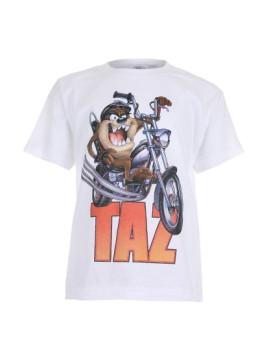 T-shirt Taz Motorbike Branca