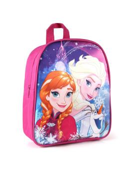 Mochila Disney Sisters And Olaf Criança Rosa