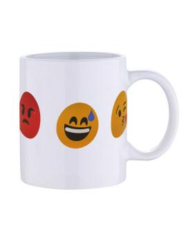Caneca 33CL Branca Emoji Caras