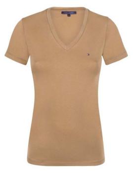 T-Shirt Tommy Hilfiger Senhora Bege