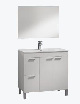 Móvel Activa com Lavatório e Espelho  Branco