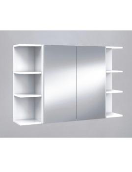Armário Casa de Banho com Espelho 60cm  Branco Brilho