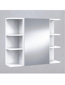 Armário Casa de Banho com Espelho 40cm  Branco Brilho
