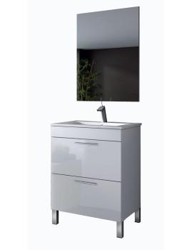 Móvel Althoa com Lavatório e Espelho Branco