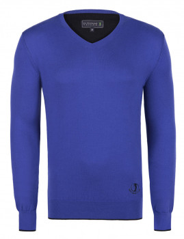 Pullover Sir Raymond Tailor Closed Face Homem Azul Sax/Preto