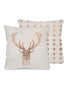 Almofada 45x45 Copper Deer