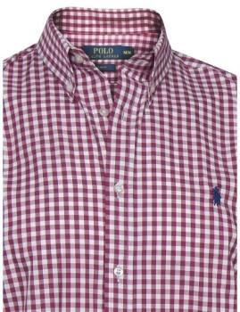 Camisa Ralph Lauren Xadrez Branca e Vermelha c379120a9e8