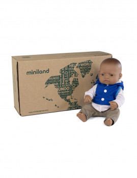 imagem de Conj. Boneca Bebé Latina 32 cm + Fato Meia Estação Azul Marinho2