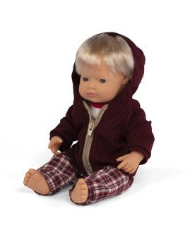 imagem de Conj. Boneco Bebé Caucasino 38 cm + Conj. Calças Inverno1