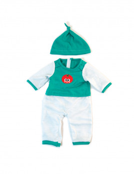 imagem de Pijamas Inverno Riscas Verdes 38cm1