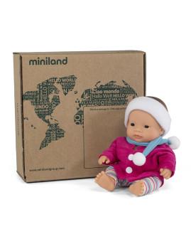imagem de Conj. Boneca Bebé Asiatica 21 cm + Fato Casaco de Frio2