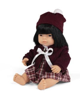 imagem de Conj. Boneca Bebé Asiática 38 cm + Vestido de Inveno1