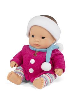 imagem de Conj. Boneca Bebé Asiatica 21 cm + Fato Casaco de Frio1