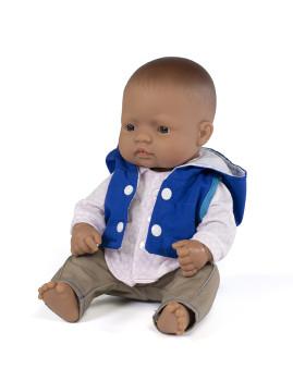 imagem de Conj. Boneca Bebé Latina 32 cm + Fato Meia Estação Azul Marinho1