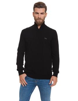 Jersey tricot com zip Lonsdale Preto