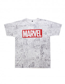 T-shirt Marvel  Champions Branca