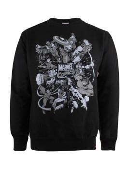Sweatshirt Marvel  Explosion Preta