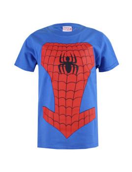 T-shirt Marvel Criança Spiderman Costume Azul Royal