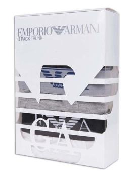 imagem de Pack 3 Boxers Armani Homem Preto / Branco / Cinza1