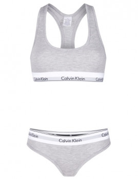 imagem de Slips+Top Calvin Klein Senhora Cinza4