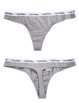 imagem de Pack 3 Tangas Calvin Klein Senhora Cinza / Preto / Branco3