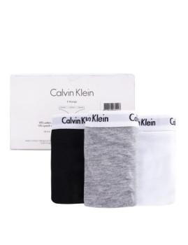 imagem de Pack 3 Tangas Calvin Klein Senhora Cinza / Preto / Branco4