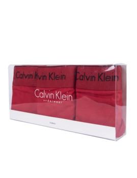 imagem de Pack 3 Cuecas Bikini Calvin Klein Senhora Vermelho2