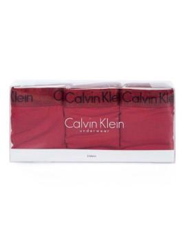imagem de Pack 3 Cuecas Calvin Klein Senhora Vermelho1