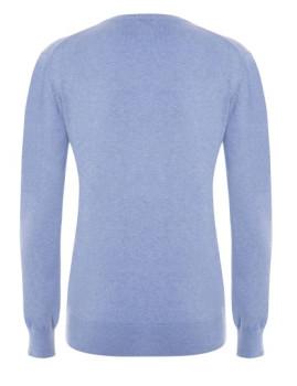 imagem de Pullover V Senhora Azul Mesclado2