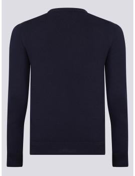 imagem de Camisola Homem Azul Navy/Branco2