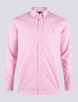 imagem de Camisa Homem Rosa/Branco1