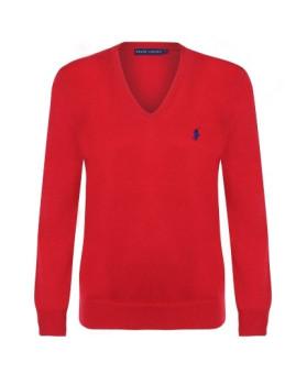 imagem de Pullover V Senhora Vermelho1