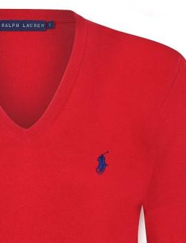 imagem de Pullover V Senhora Vermelho3