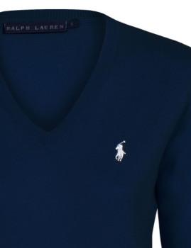 imagem de Pullover V Azul Marinho Senhora2