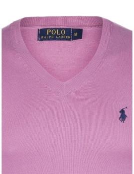 imagem de Pullover Decote em V Rosa e Azul Navy Homem Ralph Lauren3