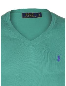 imagem de Pullover Decote em V Verde Homem2