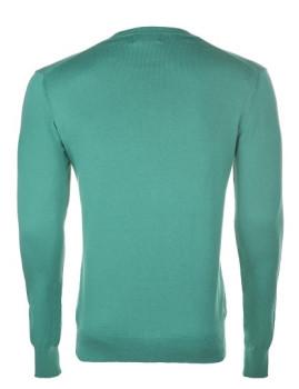 imagem de Pullover Decote em V Verde Homem4