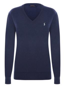 imagem de Pullover V Senhora Azul Mesclado1