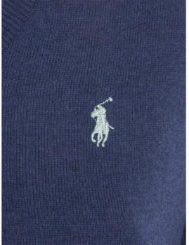 imagem de Pullover V Senhora Azul Mesclado3