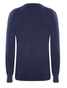 imagem de Pullover V Senhora Azul Mesclado4