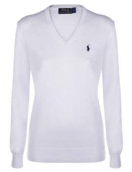 imagem de Pullover V Branco Senhora1