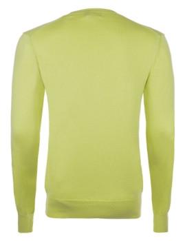 imagem de Pullover decote em V Verde Lima Homem2